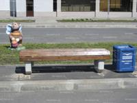 Скамейка бетонная уличная С-4