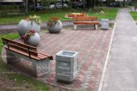 Скамейка бетонная уличная С-9С