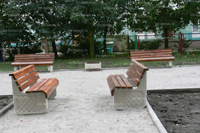 Скамейка бетонная уличная С-1