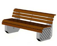 Скамейки уличные С-1,лавка, скамейка бетонная