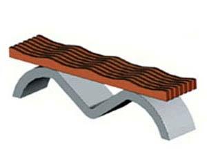Скамейки уличные С-10,лавка, скамейка бетонная