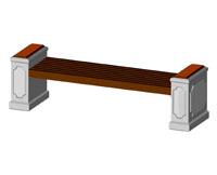 Скамейки уличные С-12,лавка, скамейка бетонная