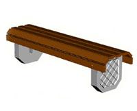Скамейки уличные С-4,лавка, скамейка бетонная