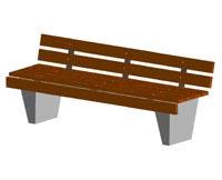 Скамейки уличные С-5с-2,лавка, скамейка бетонная