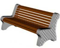 Скамейки уличные С-6,лавка, скамейка бетонная
