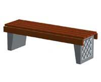 Скамейки уличные С-9(2),лавка, скамейка бетонная