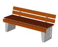 Скамейки уличные С-9C(2),лавка, скамейка бетонная