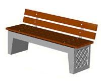 Скамейки уличные С-9C,лавка, скамейка бетонная
