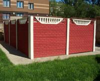 Декоративные бетонные заборы Кирпичик, купить декоративные бетонные заборы Петербург